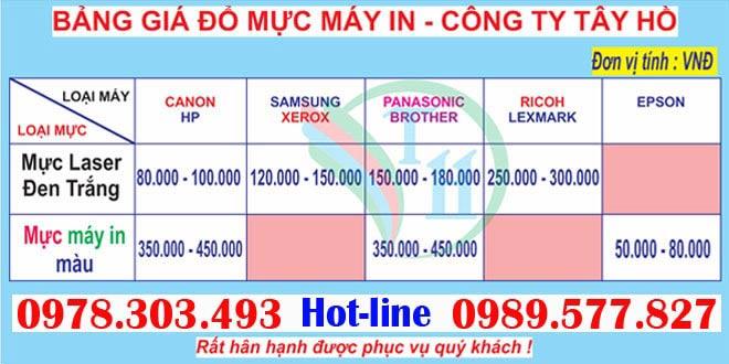 Bảng giá dịch vụ sửa máy in tại Xuân Đỉnh