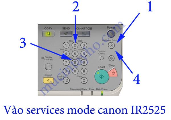 Sửa máy photocopy canon ir2525