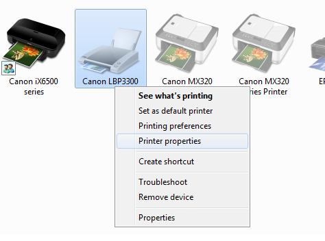 Chọn khay giấy canon 3300