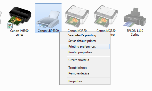 Máy in canon 3300 không in được 2 mặt