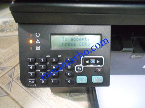 máy in HP 1212 báo lỗi Supply memory error
