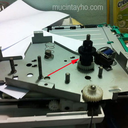 bánh răng canon 3300 gây ra kẹt giấy