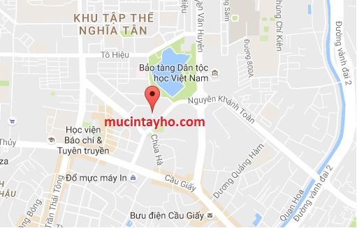 Đổ mực máy in tại Chùa Hà