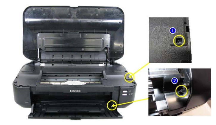 Vị trí các cảm biến máy in canon ix6560 ix6770