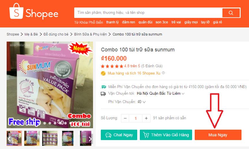 100 túi sunmum 50pcs