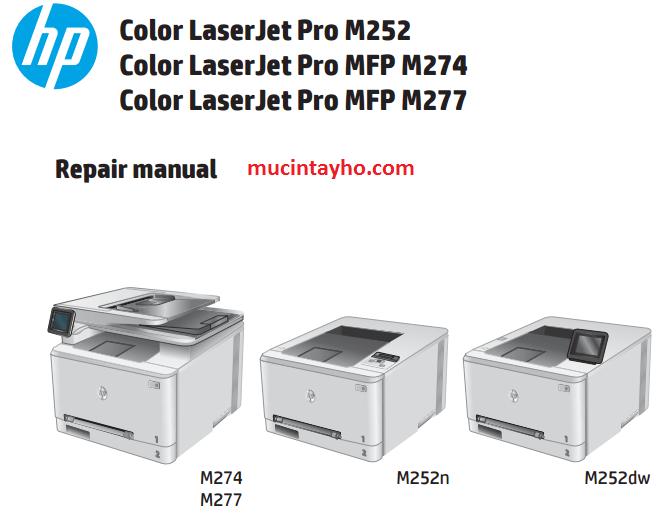 đổ mực máy in màu HP pro M252