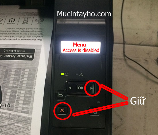 máy in hp báo lỗi access is disabled