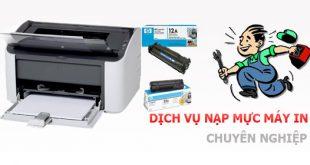 Đổ mực máy in tại Dương Nội