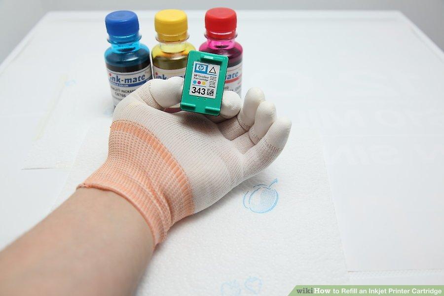 cách đổ mực máy in màu