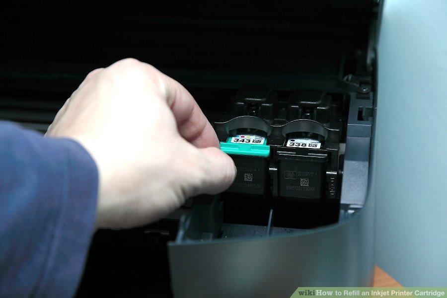 Cách đổ hộp mực máy in phun
