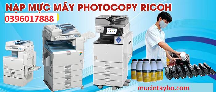 Đổ mực máy photocopy Ricoh tại Tây Hồ