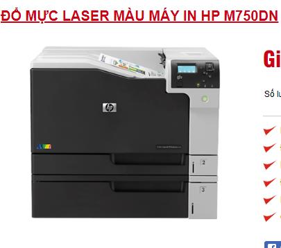 Đổ mực máy in laser màu HP M705DN