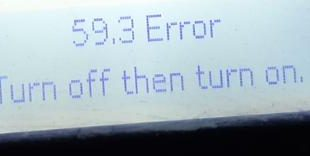 Máy in hp 402dw báo lỗi 59.3 error turn off then turn on