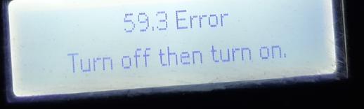 Máy in hp 402dw báo lỗi 59.3 error turn off then turn on